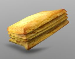 game-ready 3d asset puff pastry