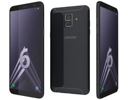 3D model Samsung Galaxy A6 Black