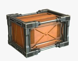 Scifi Crate for Games 3D asset
