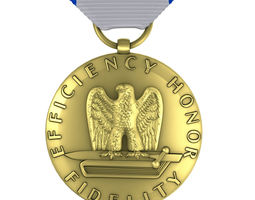 US Air Force Good Conduct Medal 3D model airforce