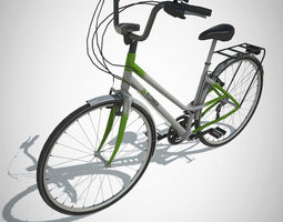 3D model City Bike with LOD