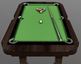 Pool Table 3D model VR / AR ready