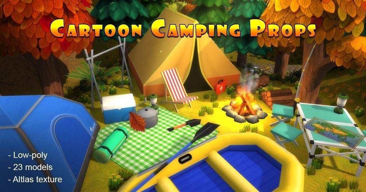 Cartoon Camping Props