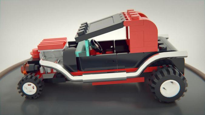 lego hot rod 3d model blend 1