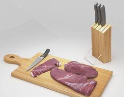 3D asset realtime Steak