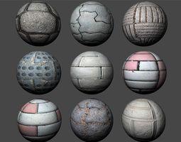 Floor Tiles Texture Pack 3 3D model