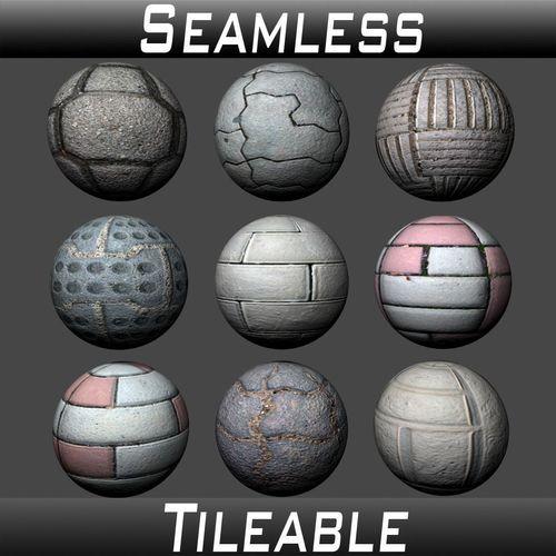 floor tiles texture pack 3 3d model  1