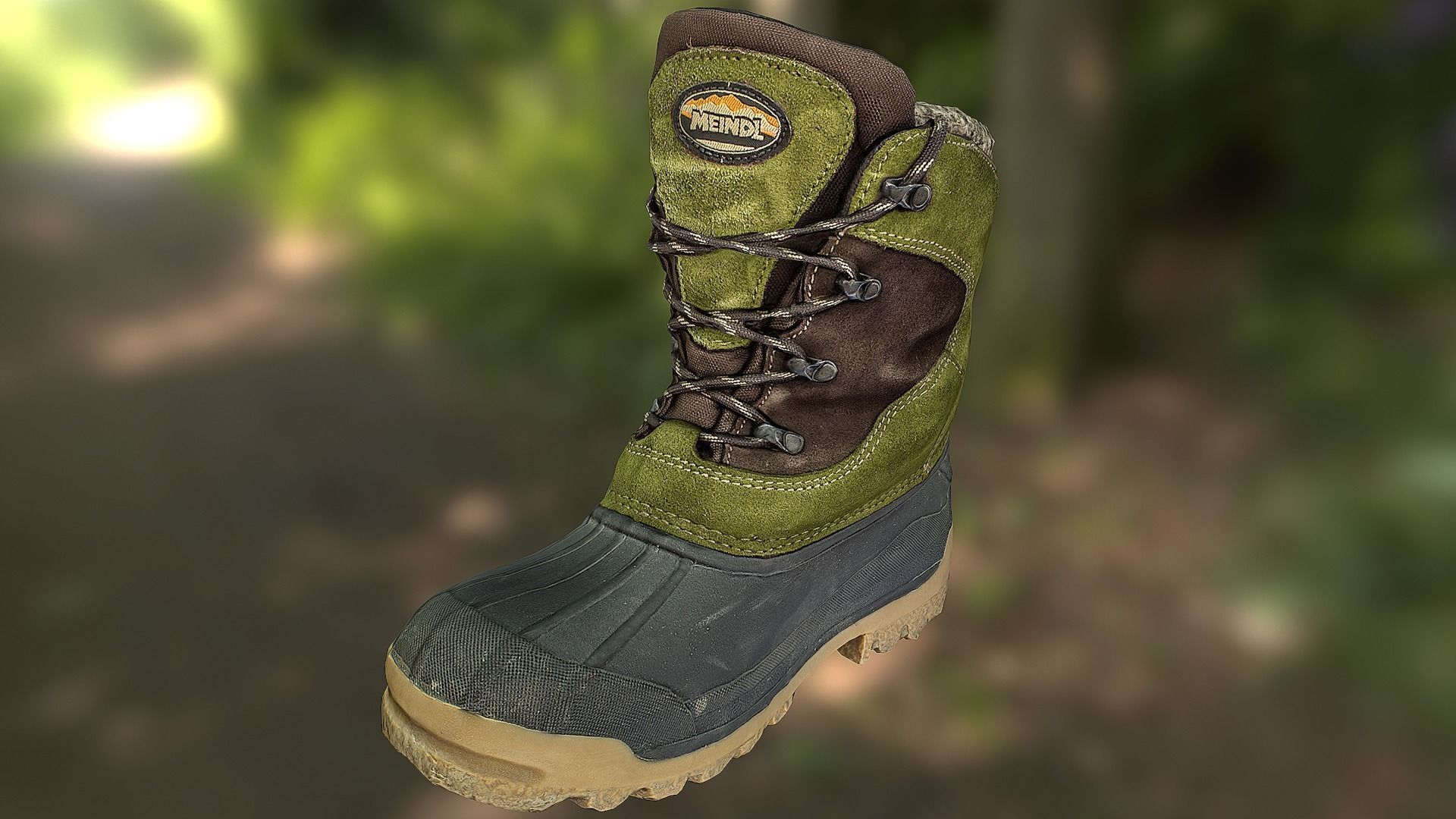 Boot 3D model low poly - footwear