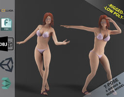 3D asset Bikini Girl Clothes Package