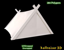 military tent 4 low-poly 3d model