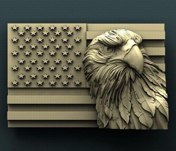 3d stl models for cnc american eagle 3d model stl 1