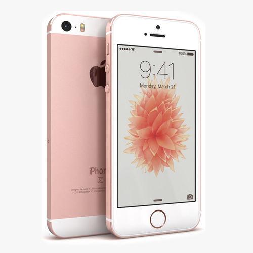 3d Asset Apple Iphone Se Rose Gold Cgtrader
