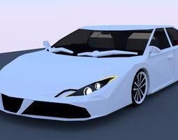 Sedan 3D Concept game-ready