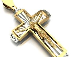 pendants jewelry cross 3D print model CROSS
