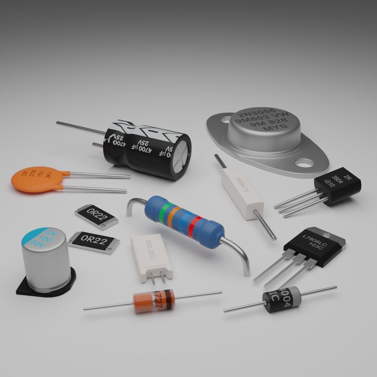 Basic Electronic Components Pack