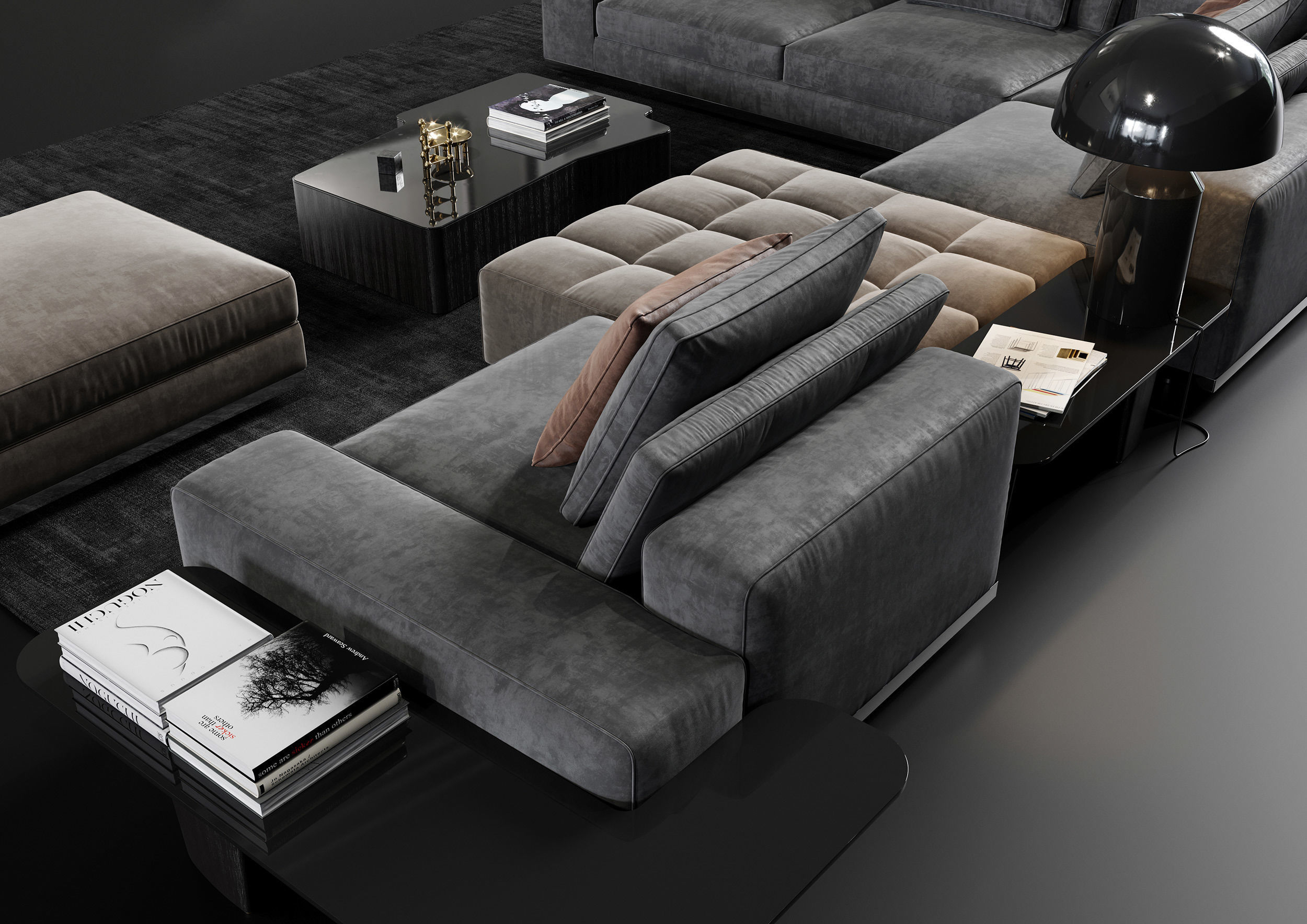 Minotti Lawrence Living Room Sofa Set