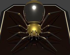 3D model Golden Robot Spider