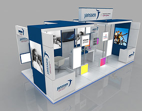 Multiple size exhibition stall 3D