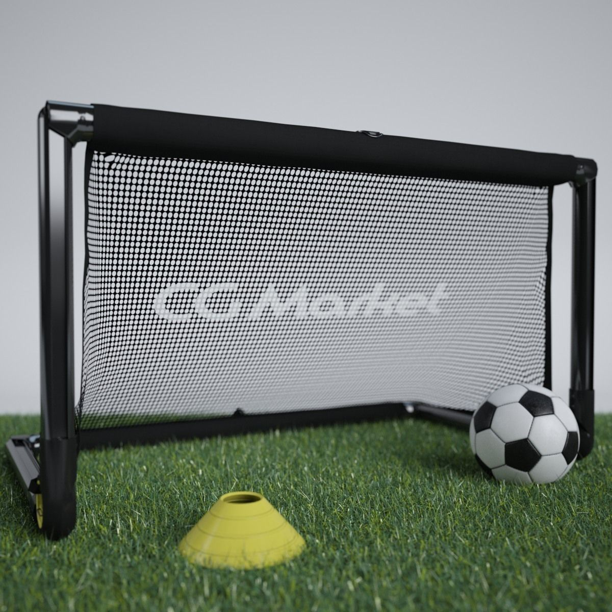 Portable Soccer Goal and Soccer Ball with Training Cone