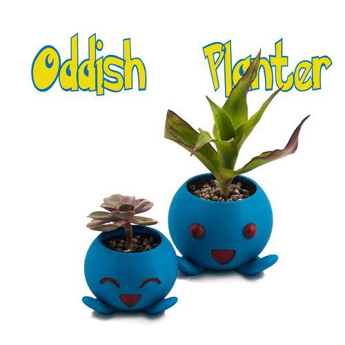 oddish planter -pokemon planter - succulent planter - cactus pot 3d model stl 1