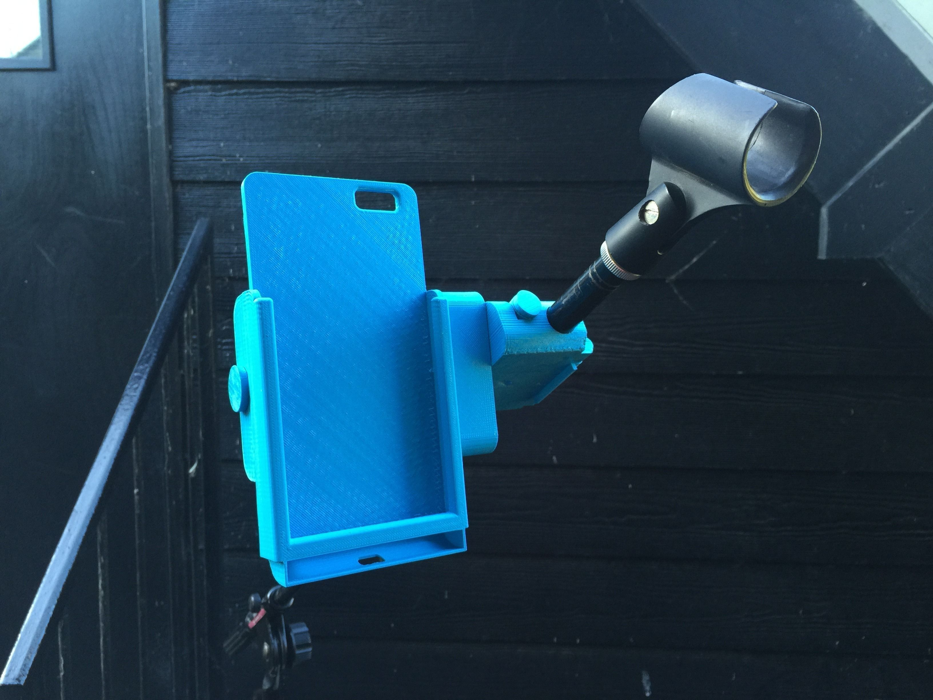 cheaper e28f4 879a1 Snap-Clip iPhone 6 Plus Microphone Stand Mount | 3D Print Model