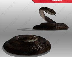 snake animated 3d asset realtime