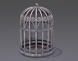 3D model cage open and close door