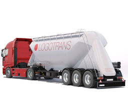 3D model Iveco Stralis with silo