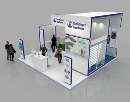 6x6 Meter exhibition stand 3D model
