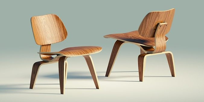Eames Lounge Chair Wood Lcw 3d Asset Cgtrader
