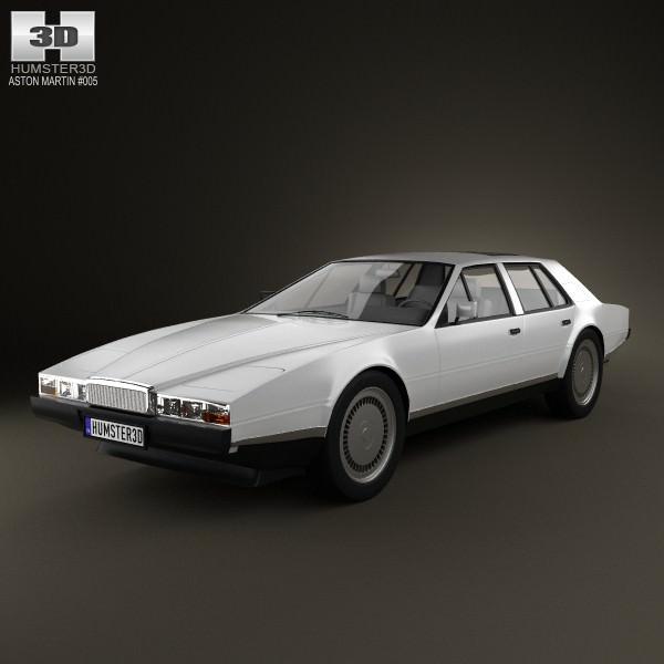 Aston Martin Lagonda: Aston Martin Lagonda 1985 3D Model MAX OBJ 3DS FBX C4D LWO
