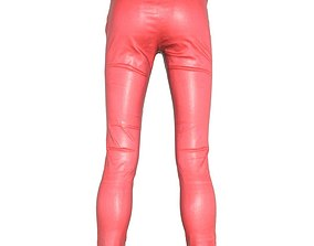 3D model Shiny Plastic Red Pants