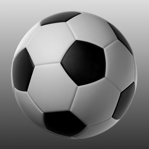 soccer ball 3d model obj mtl fbx 1