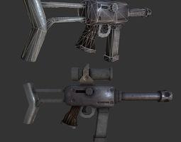 3D model realtime Sub Machine Gun Weapon Stylized