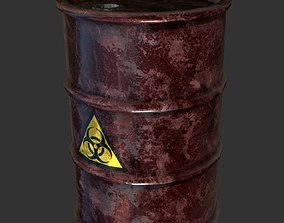 3D model Oil Drum Barrel Chemical Hazard