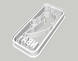 NBA Logo Cookie Cutter 3 inches 3D print model