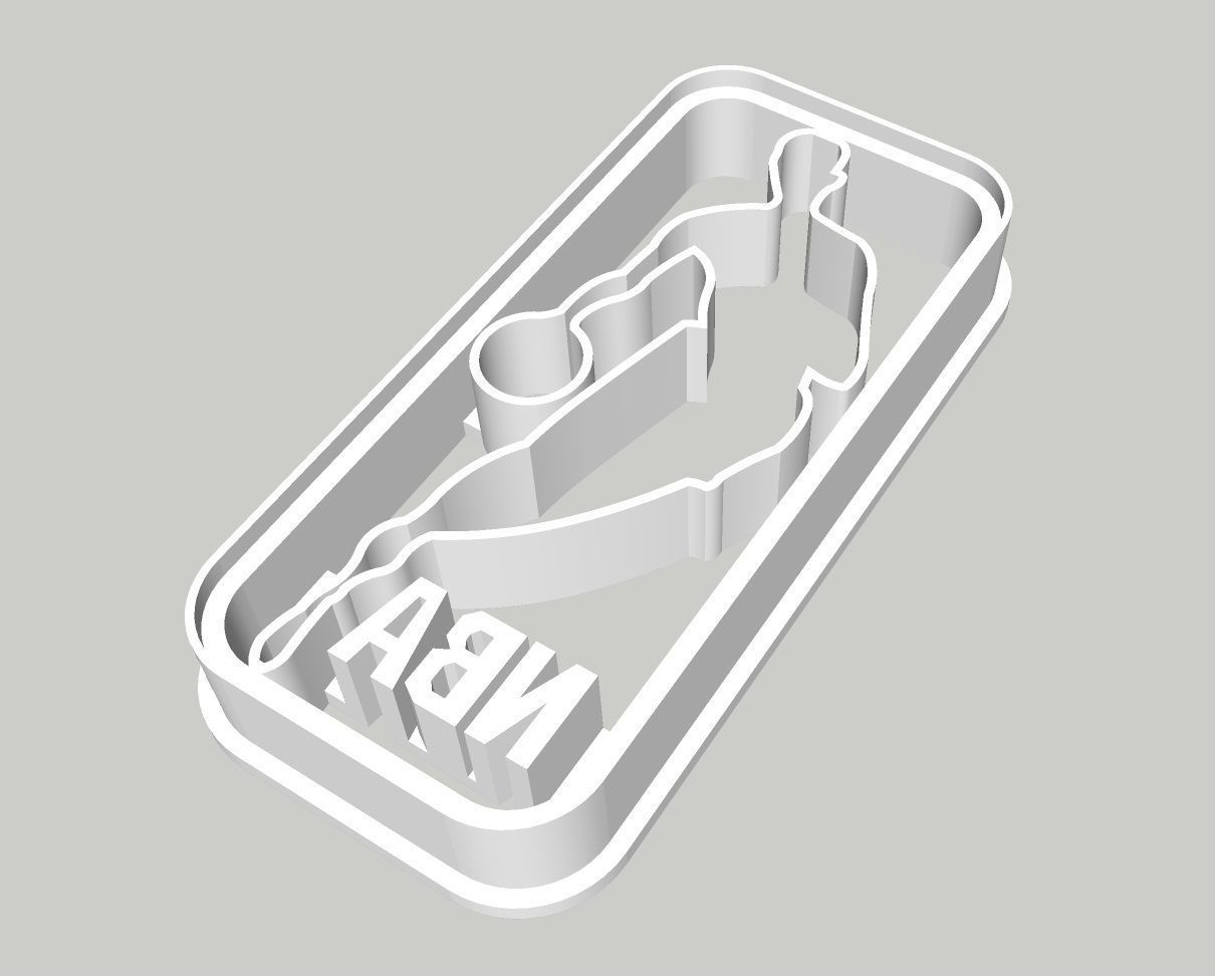 NBA Logo Cookie Cutter 3 inches