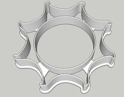 Sun Burst Cookie Cutter 3D print model sun