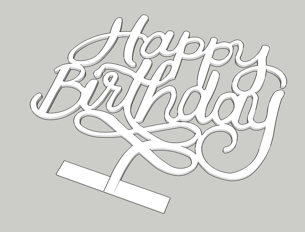 Amazing Happy Birthday Cake Topper 3D Printable Model Cgtrader Personalised Birthday Cards Cominlily Jamesorg