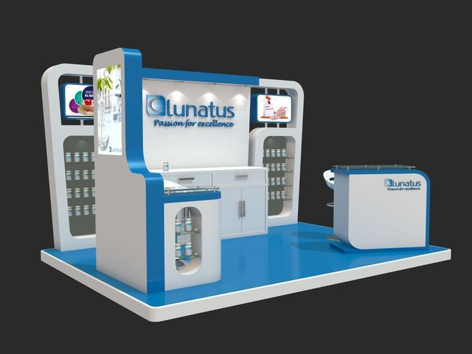 Simple Exhibition Stand : 3d model simple exhibition stand design cgtrader