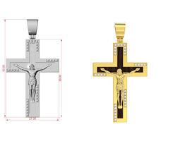 Cross with enamel 3D printable model