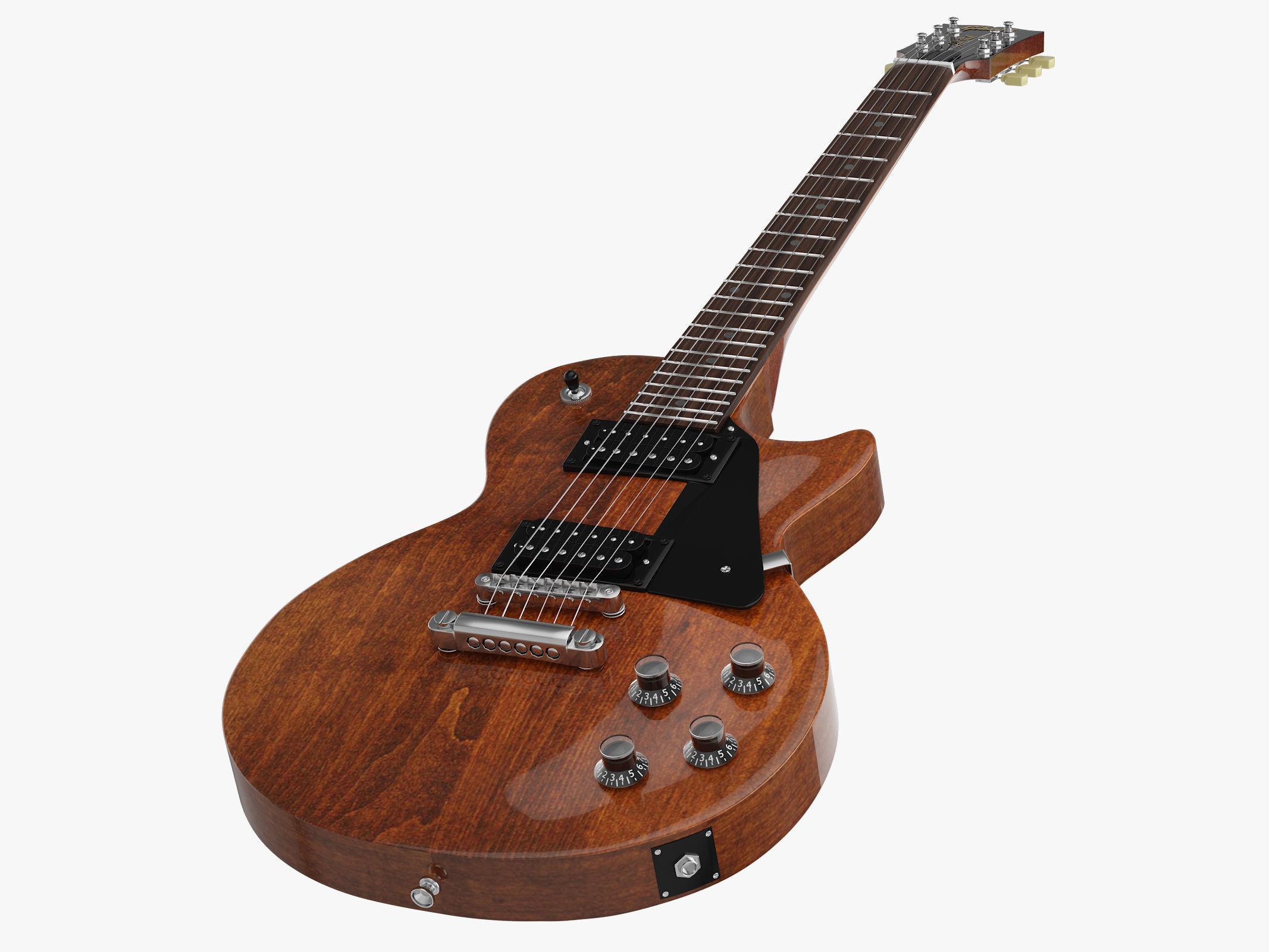 Gibson Les Paul Faded 2018 Worn Bourbon Electric Guitar | 3D model