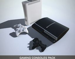 Gaming Consoles PACK with LOD 3D model