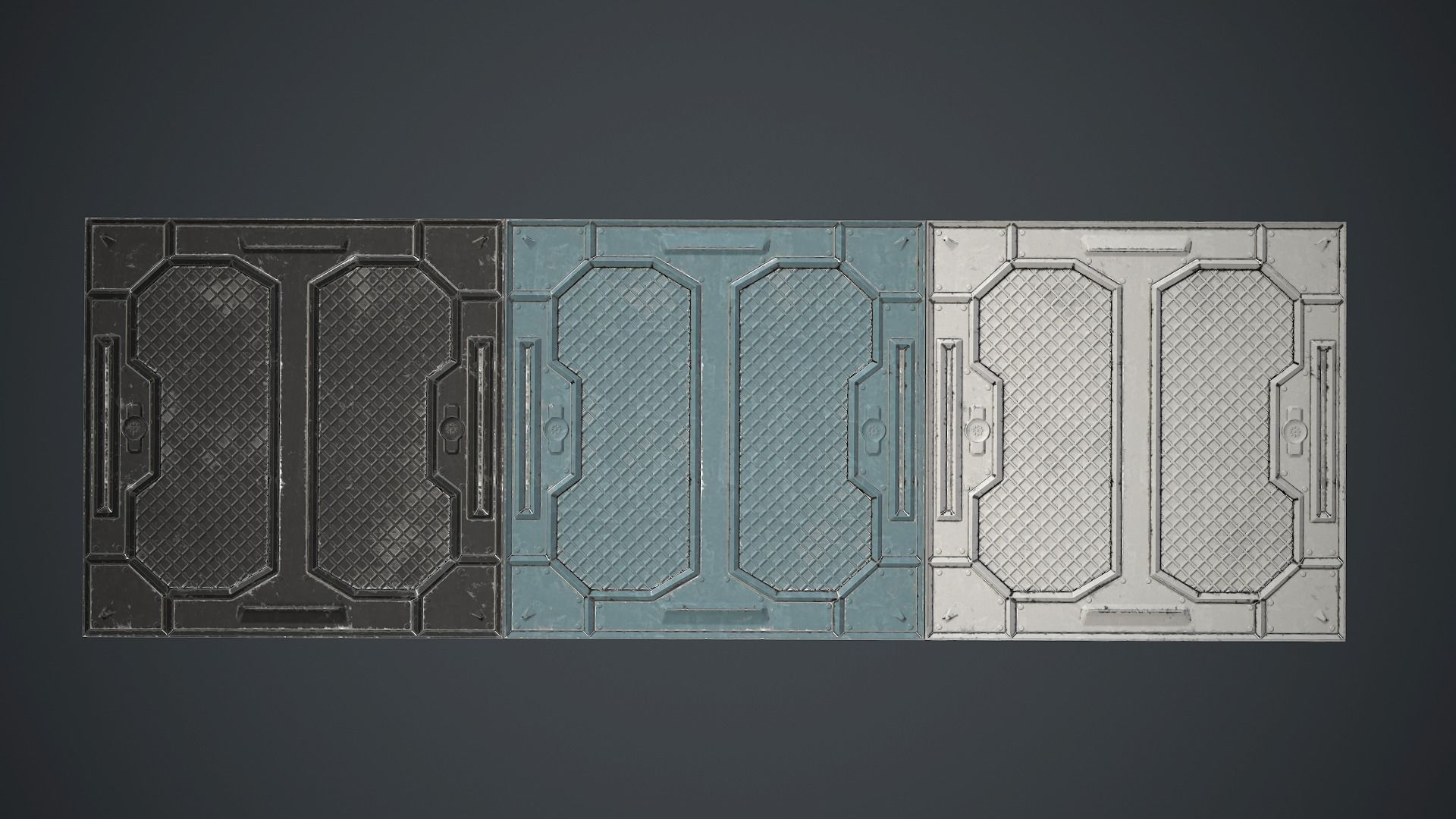 Sci Fi Floor Tiles On Scifi Floor Metal Plates Pbr Game Ready 3d Model Lowpoly Max Scifi Floor Metal Plates Pbr Game Ready 3d Asset