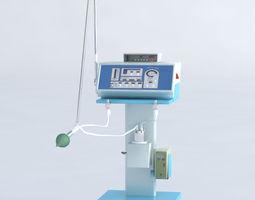 3D Medical equipment Artificial respiration corona and