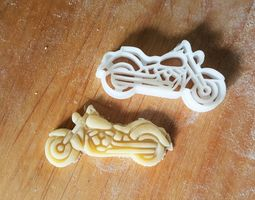 Motorcycle Cookie Cutter 3D print model