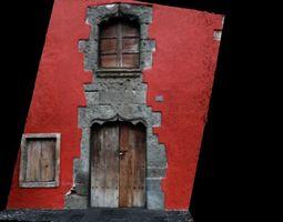 Medieval facane window and door 3D model