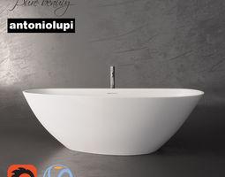 Riho Granada bath and Antoniolupi floor mixer 3D