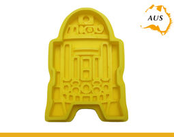 3D print model R2D2 Cookie Cutter Fruit Cake Mold Decor