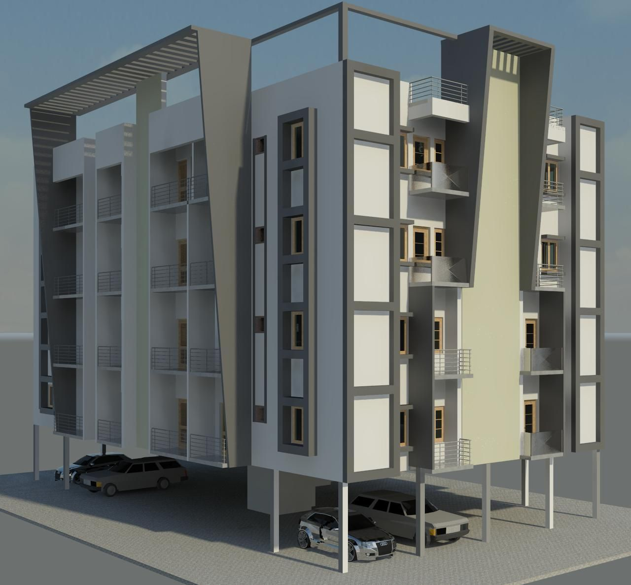 3D model apartment ext | CGTrader
